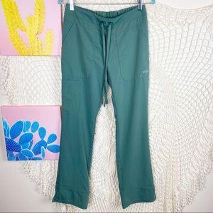 Greys anatomy green drawstring straight leg scrub